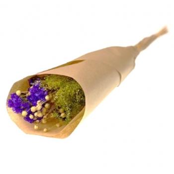 Gemengde bos paarse droogbloemen